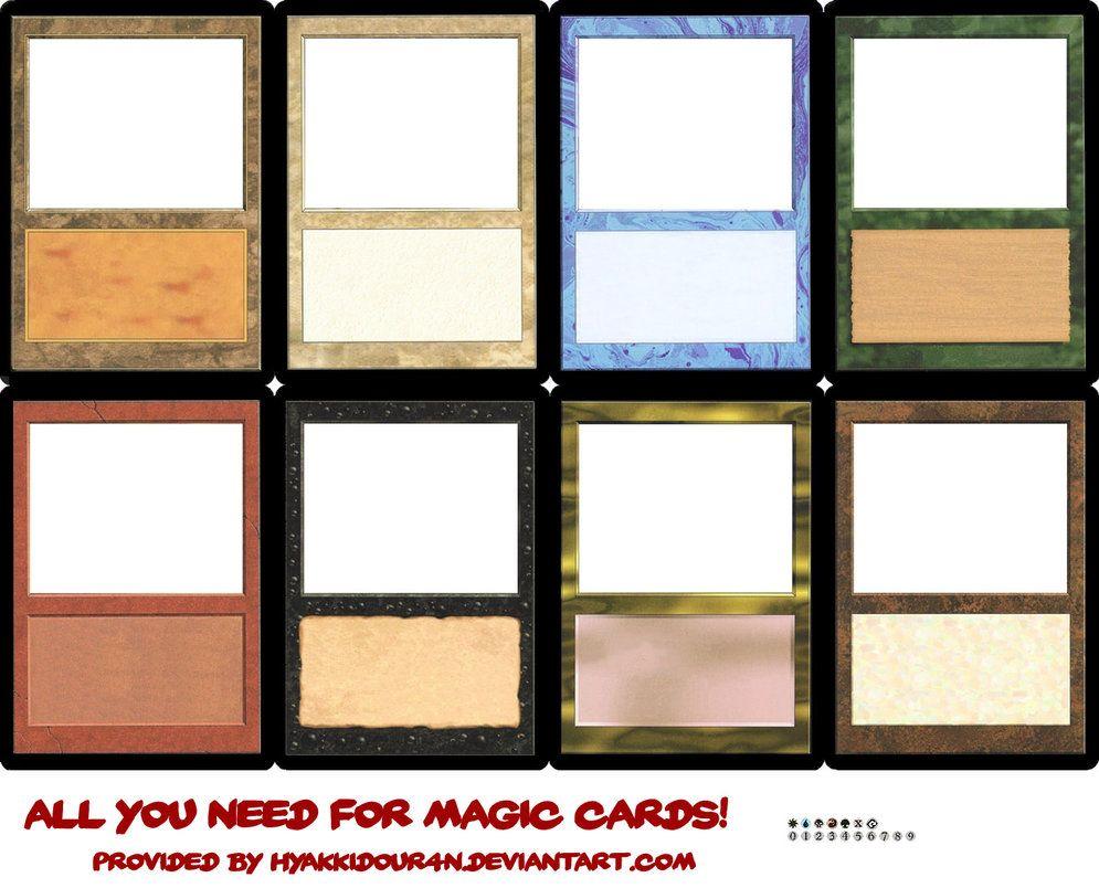 Magic Cards Templates Magic Cards Magic The Gathering Cards Trading Card Template