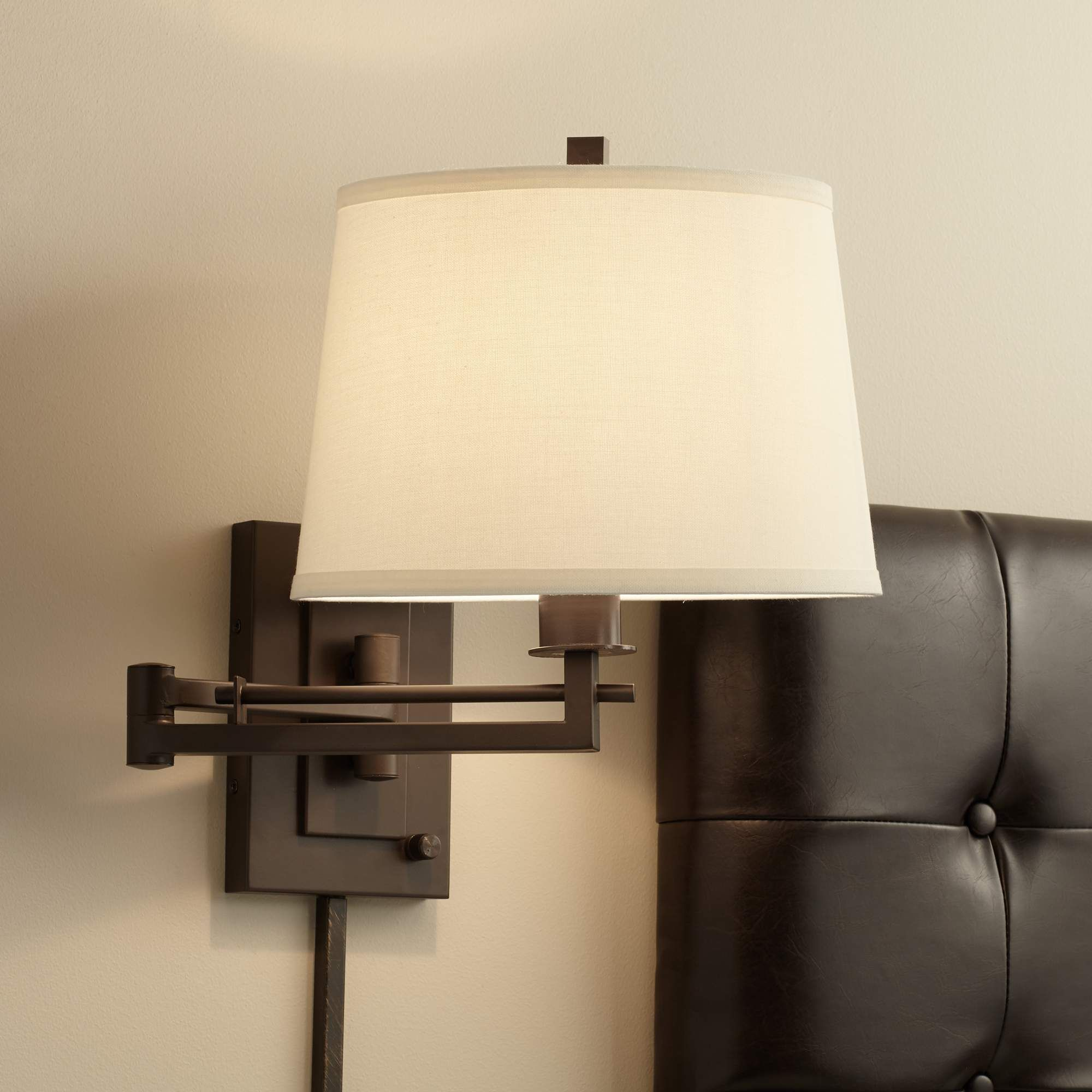 Easley matte bronze plug in swing arm wall lamp r4625 lamps