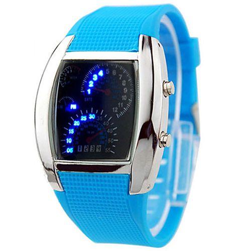 hombre o mujer deporte LED Tablero Diseño esfera reloj de pulsera digital  Regalo precio 3 09d45eb30f86
