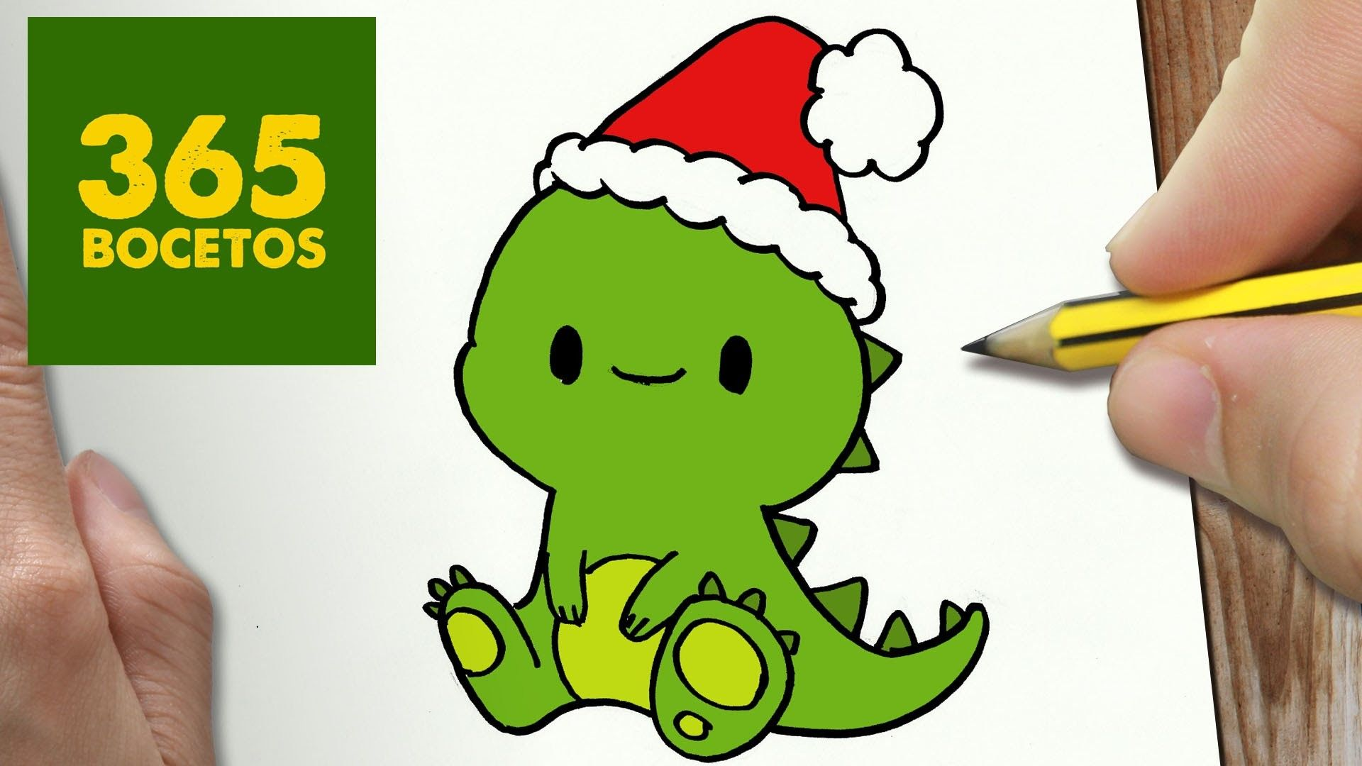 Como Dibujar Un Dinosaurio Para Navidad Paso A Paso Dibujos