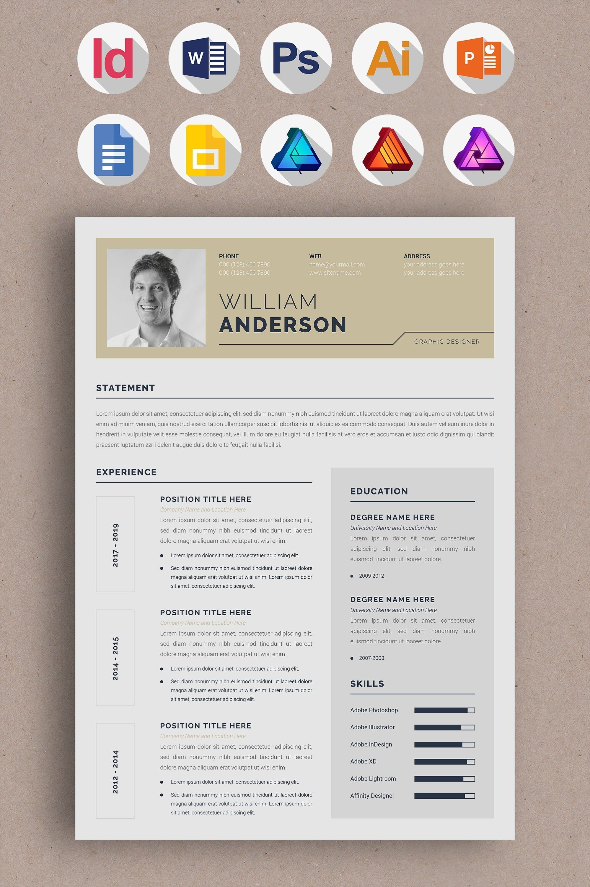 3 Page Professional Resume Or Cv Template And Cover Letter Etsy Cover Letter Template Cv Template Letter Templates