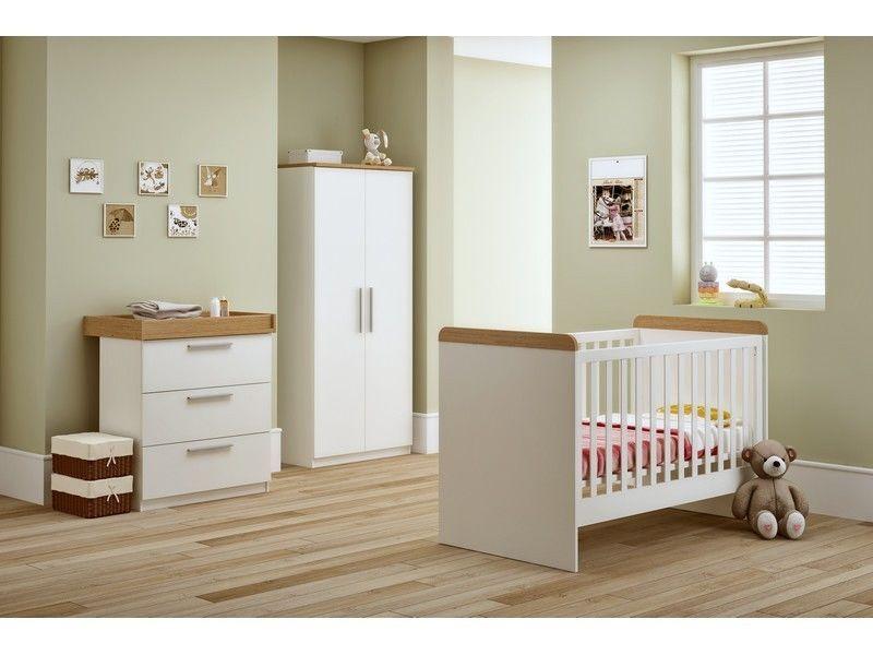 Banbury Nursery Furniture Set Ivory Oak Cot Bed Changing Cabinet Wardrobe