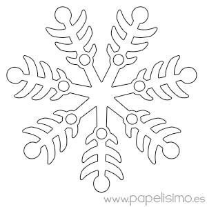 Copos de nieve para colorear - Papel para dibujar ...