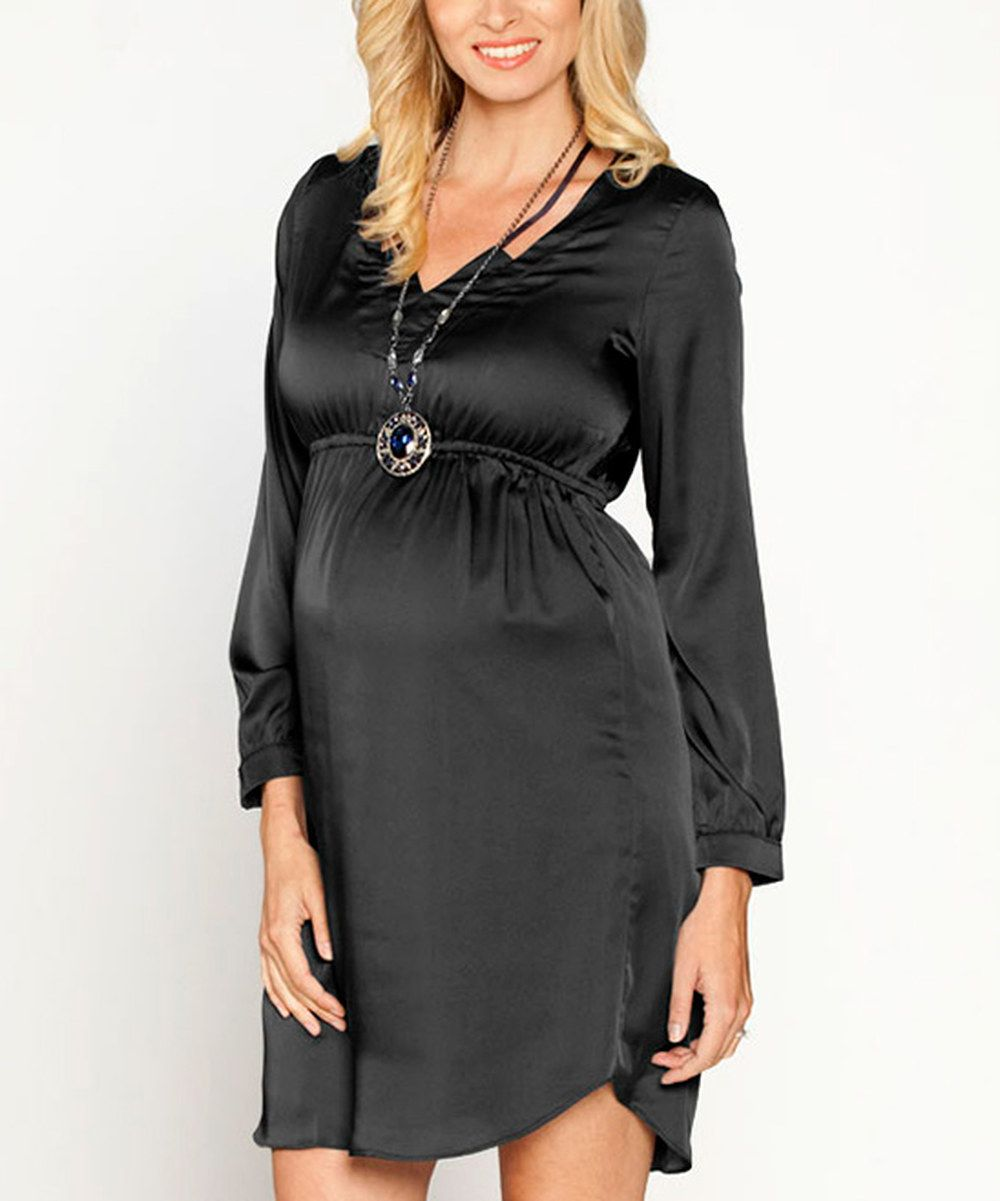 Look at this angel black v neck maternity dress on zulily today look at this angel black v neck maternity dress on zulily today ombrellifo Gallery