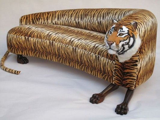 Weird Couches decorative upholstered wild animal sofa tiger style design