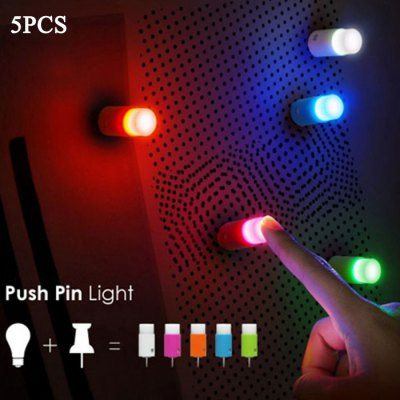 #5pcs small push pin light Instock  ad Euro 2.82 in #Random color #Home decors decorative lights