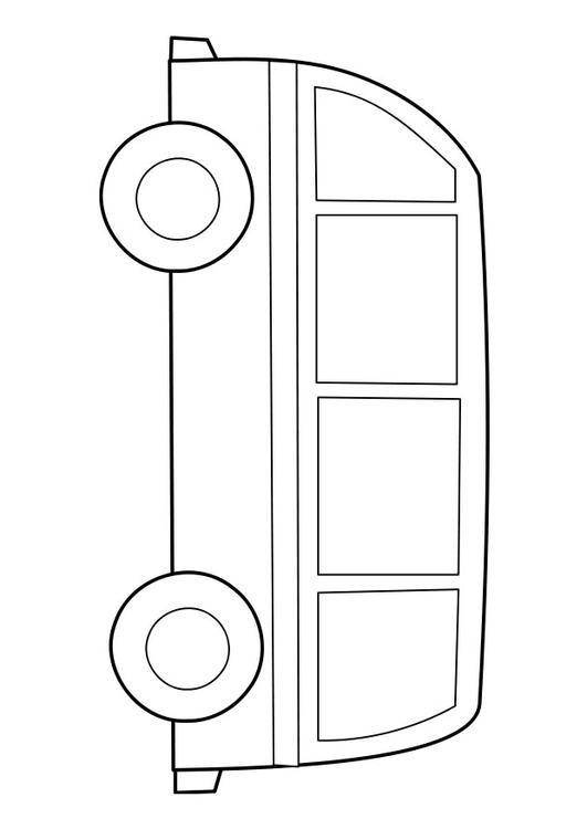 Bilde å fargelegge buss - bil 22855 Bilder Buss Utdanning