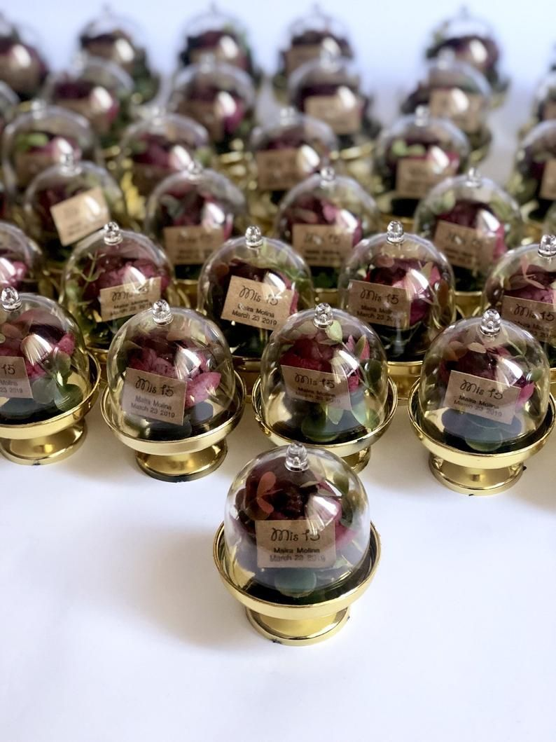 10 pcs wedding favors favors dome beauty and the beast
