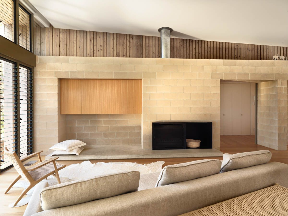 Beach House at Point Lonsdale by Studio101 | House, Fireplace ...