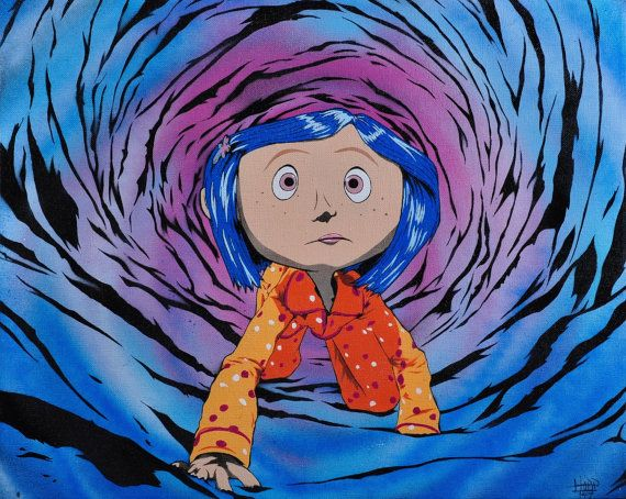 Coraline Through The Tunnel Art Illustration By Hoap Coraline Henryselick Coraline Jones Coraline Art Coraline Drawing