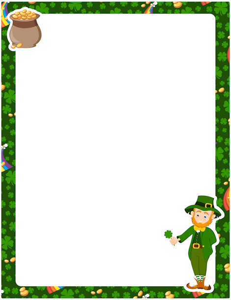 Printable St Patrick S Day Border Free Gif Jpg Pdf And Png Downloads At Http Pageborde St Patrick Day Activities St Patrick S Day Crafts San Patrick Day