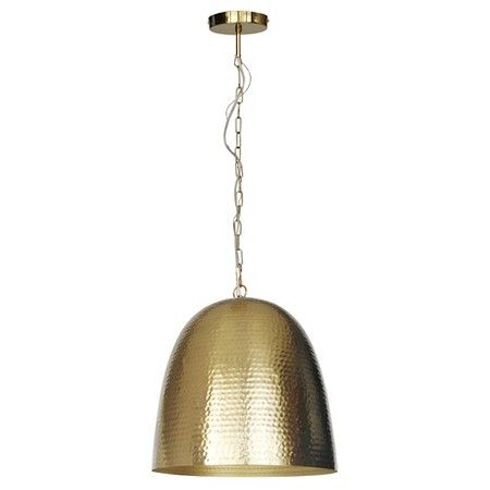 Dome Hammered Metal Pendant Light Threshold Target Metal
