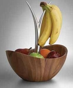 Nambe Fruit Tree Bowl, Wood With Metal Alloy