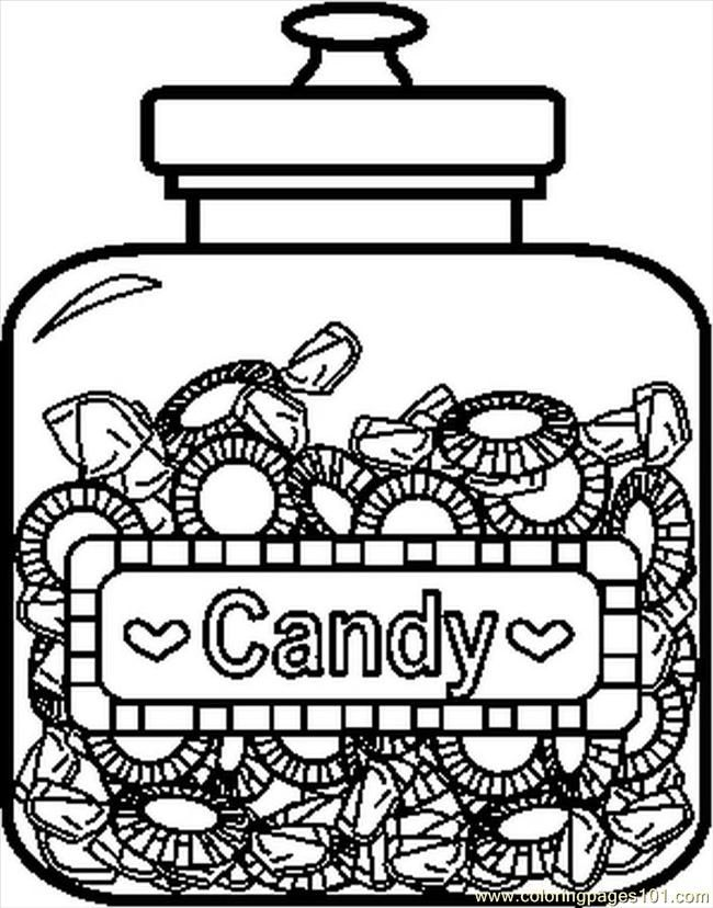 Candyjar6bw coloring page free printable coloring pages