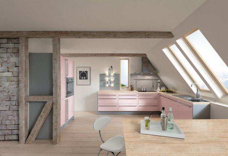 Top 20 Cocinas En Color Rosa Decoracion De Interiores Cocinas