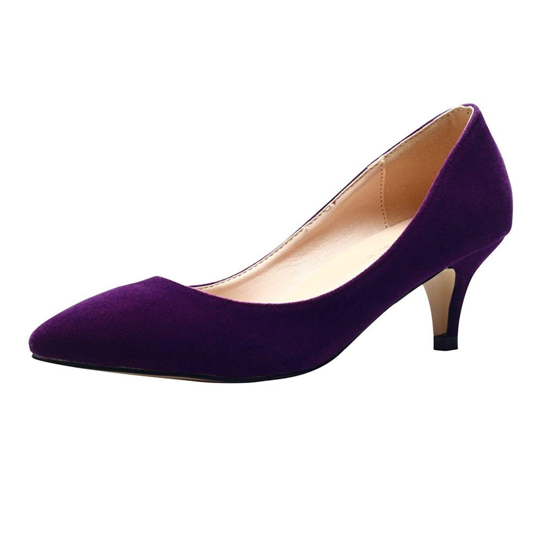 Pump shoes, Purple shoes heels