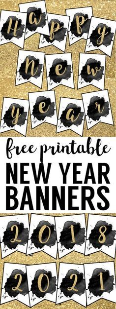 Free Printable Happy New Year Banner   Happy new year ...