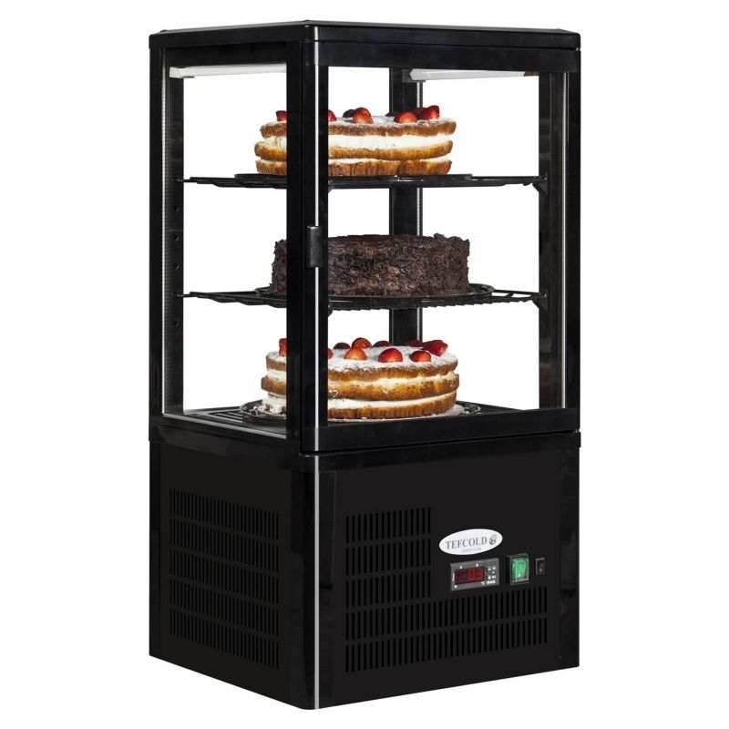 Tefcold 2 Tier Counter Top Cake Snack Drink Glass Display Fridge