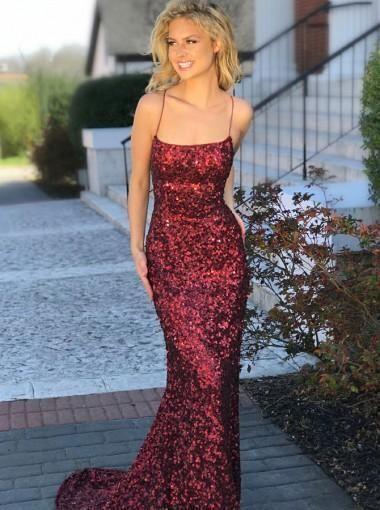 451f9ba76b7b Long Mermaid Prom Dresses, Spaghetti Strap Prom Dresses, Sequin Prom Dresses,  Backless Prom Dresses, TYP0220 #promdresses #sequinpromdresses ...
