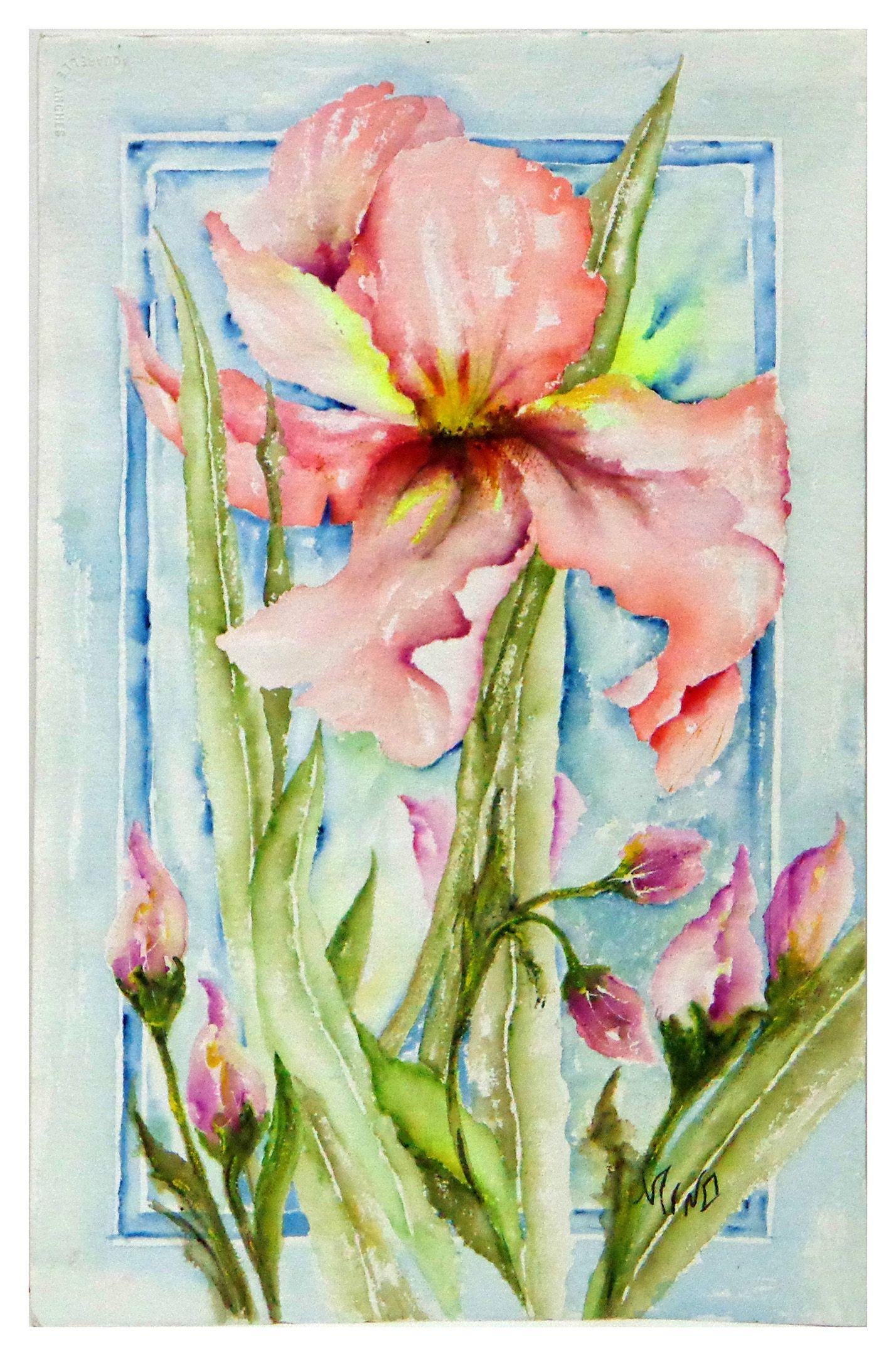 aquarela-leve-de-flores-orquideas-quadro.jpg (1428×2160)