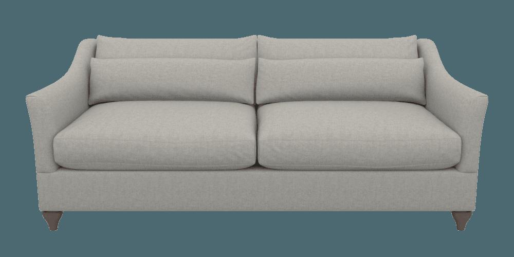 Neutral Extra Large 4 Seater Sofa Berwick Pebble Graffham