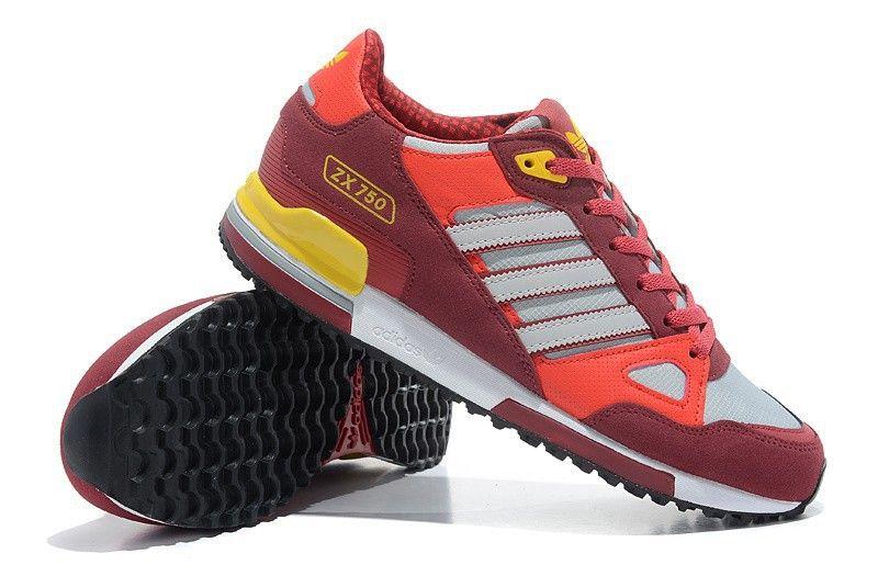 Adidas Originals Gemutlich Zx 750 Herren Gehen Schuhe Rot Grau Gelb Q20661 Air Max Sneakers Sneakers Nike Nike Air Max