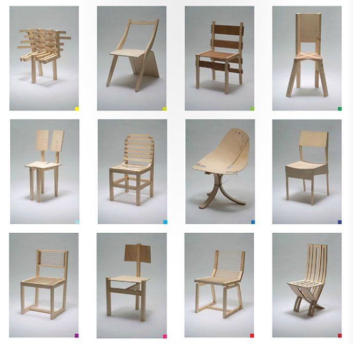 chair design at the Royal Danish Academy of Fine Arts Architecture
