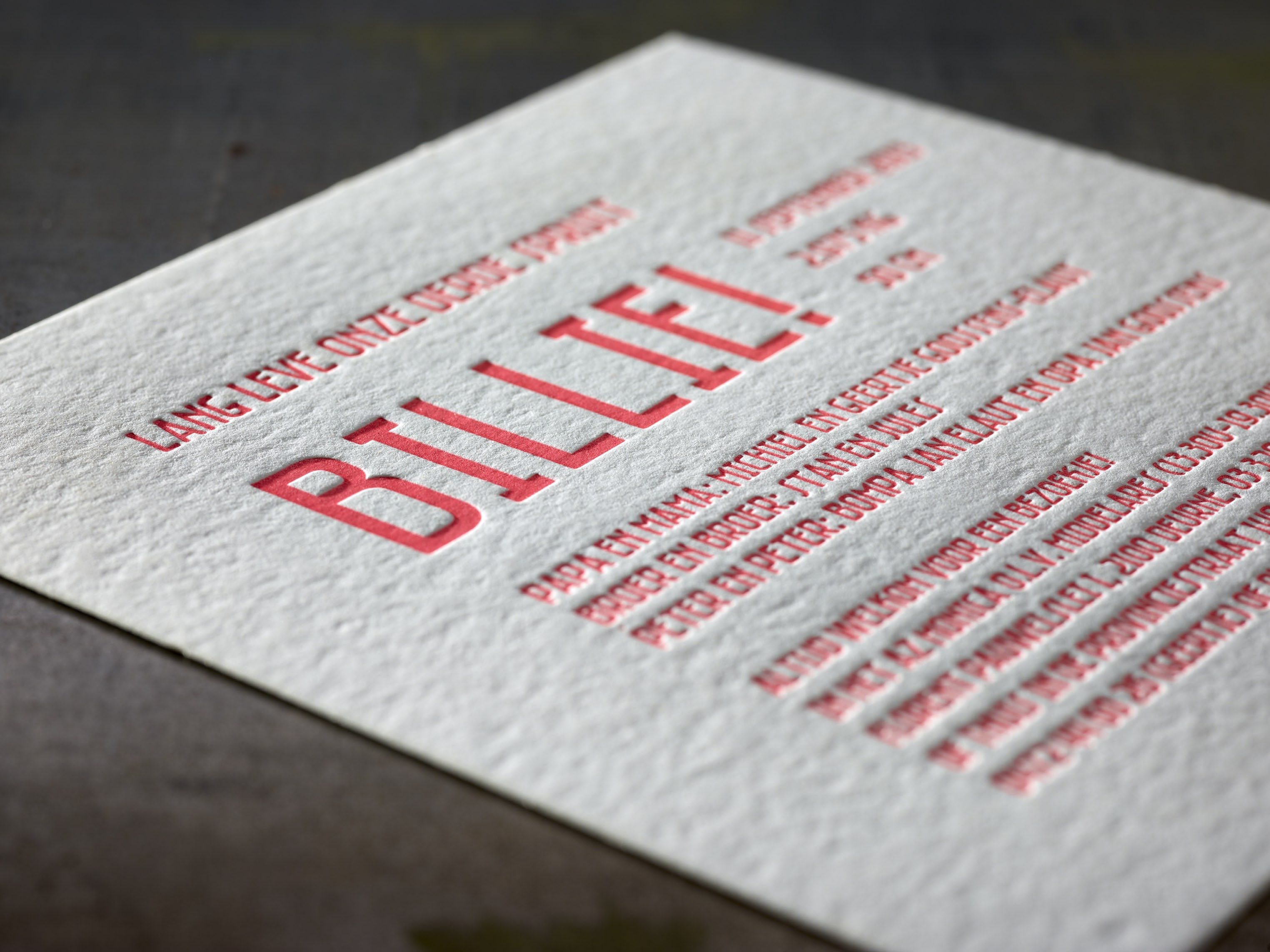birth announcement card billie paper macho mick 470 gr print