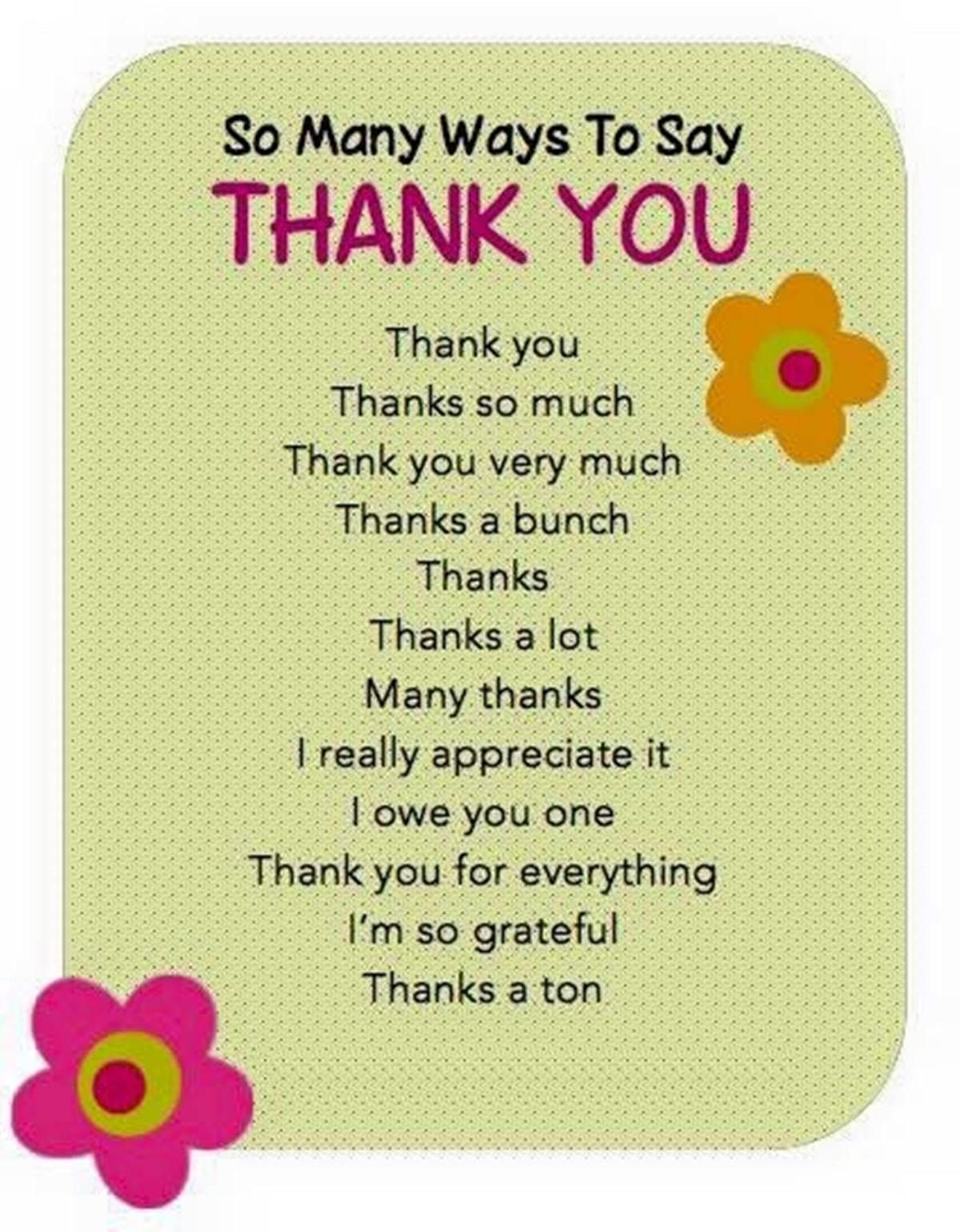 30 delightful ways to say thank you in english english 30 delightful ways to say thank you in english stopboris Choice Image