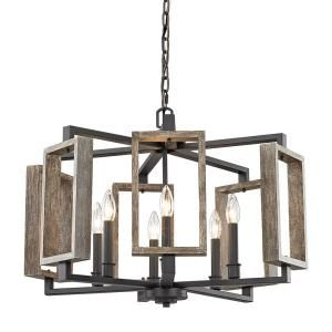 Home Decorators Collection Palermo Grove Collection 3 Light Gilded Iron Pendant