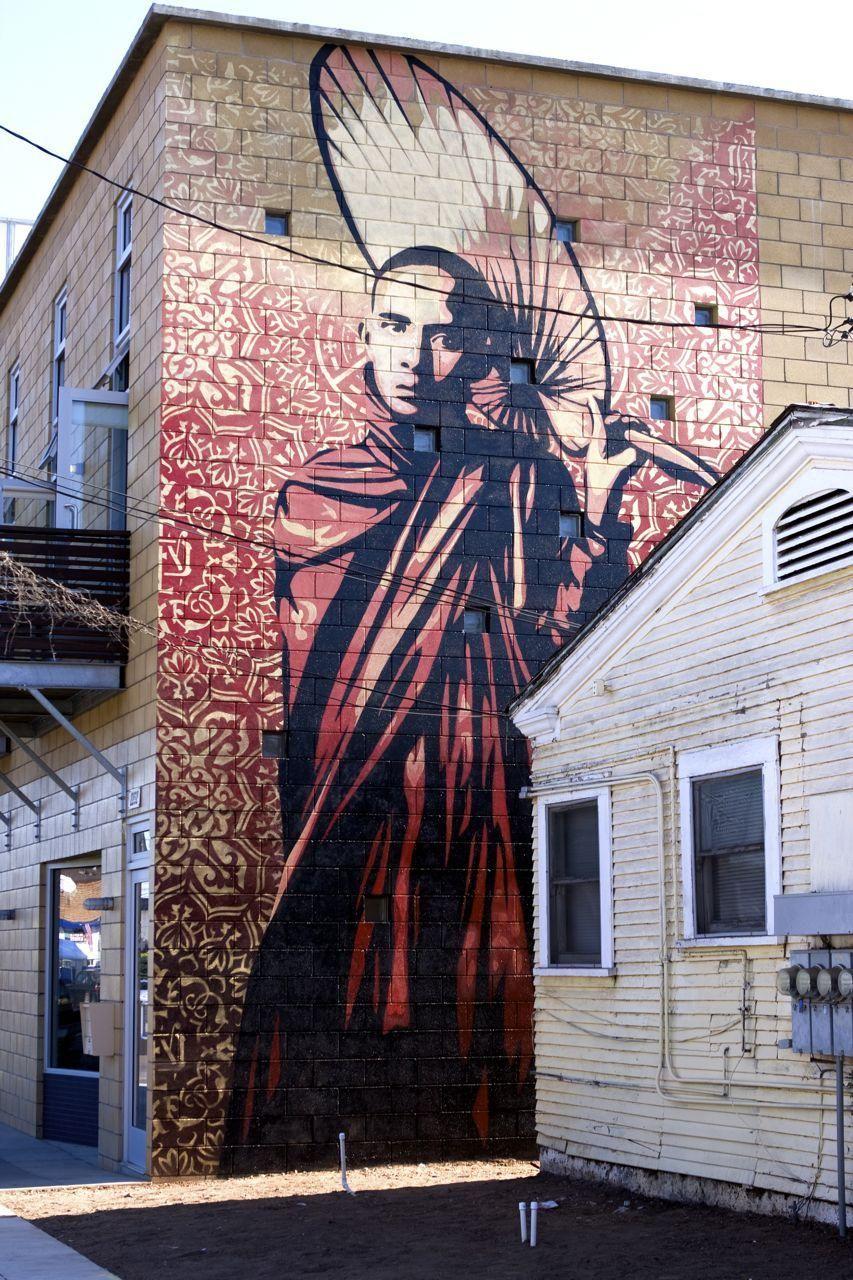 Peindre Une Fresque Sur Un Mur obeyshepard fairey /1 | art de rue, art des rues en 3d