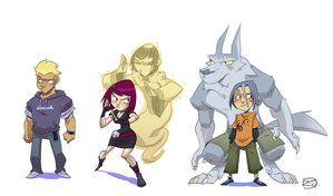 Characters by ~donsimoni on deviantART