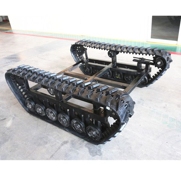 Rubber Tracked Chassis/Undercarriage for Small Machine (Size Adjustable)