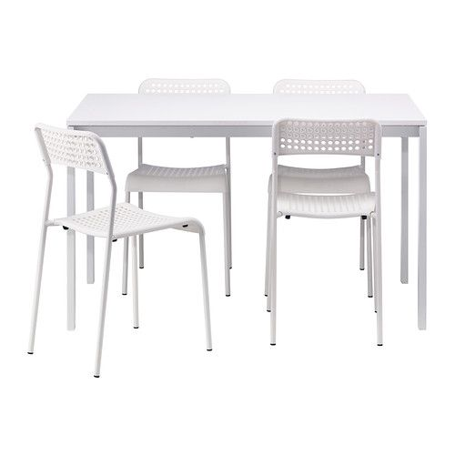 Melltorp Adde Table And 4 Chairs White Ikea Dining Room Table Chairs White Dining Room Sets Ikea Table