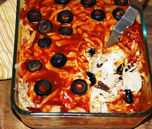 Enchilada-Casserole-Vegan