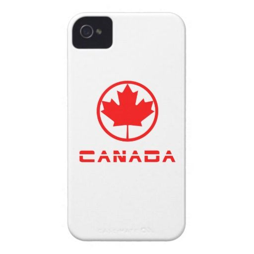 #Canada Retro Maple Leaf #iPhone 4 Barely There Case.