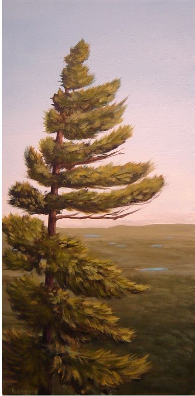 """""""My Domain"""" painted by Warren Peterson Fine Art. 24"""" x 12"""" acrylic on canvas. Currently available."""