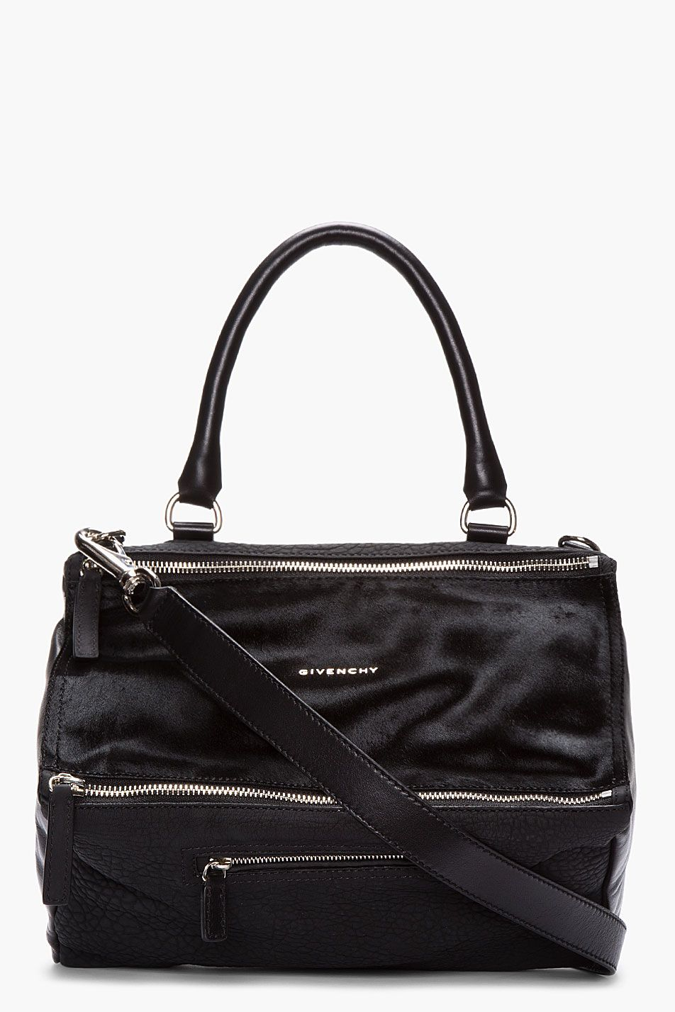8d91a14ead GIVENCHY Black calf-hair Textured Leather Pandora bag