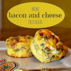 Mini Bacon and Cheese Frittatas #baconfrittata