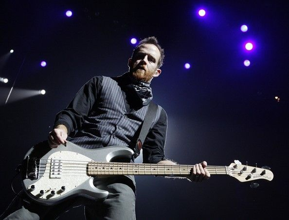 dave farrell photos photos linkin park in concert at staples center in 2019 music man basses. Black Bedroom Furniture Sets. Home Design Ideas
