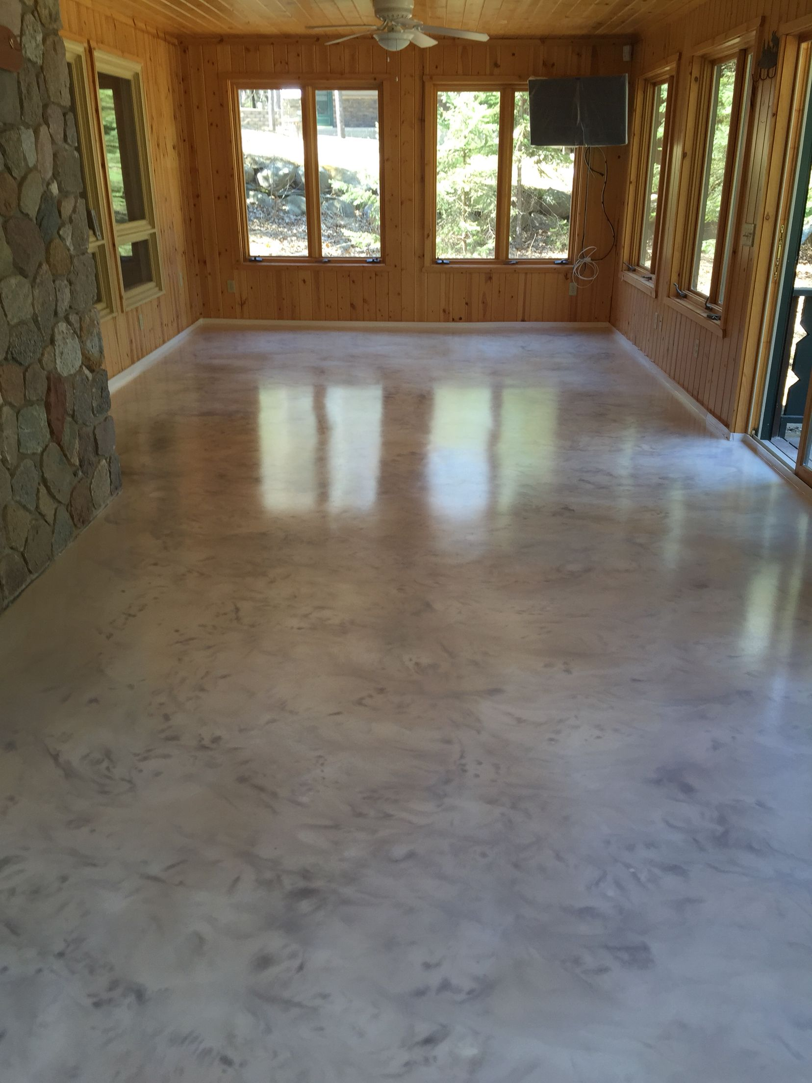Metallic Epoxy Floor Coating With Satin Non Slip Finish By Sierra Concrete Arts Metallic Epoxy Floor Epoxy Floor Basement Decorative Concrete Floors