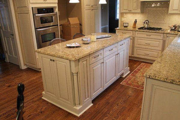 granite new venetian gold white kitchen cabinets wood flooring gas ...