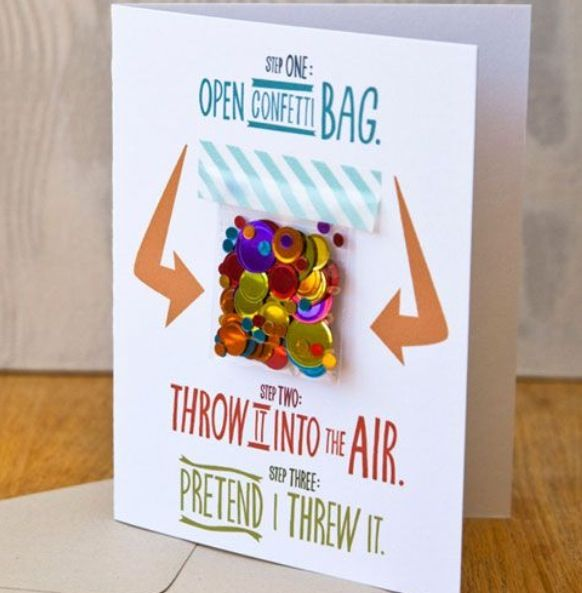 Adorable Birthday Card Idea For Long Distance Friends And Relatives Confetti Also Best Images Cards Cute