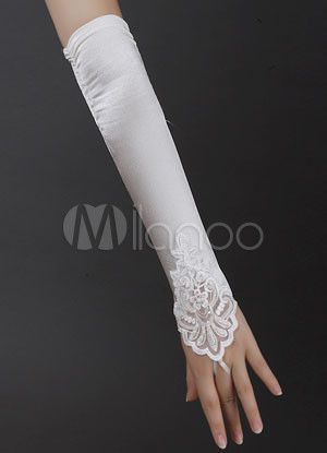 49095679e Ivory Wedding Bridal Mitten Lace Cut Out Chic Elbow Length Mitten in ...