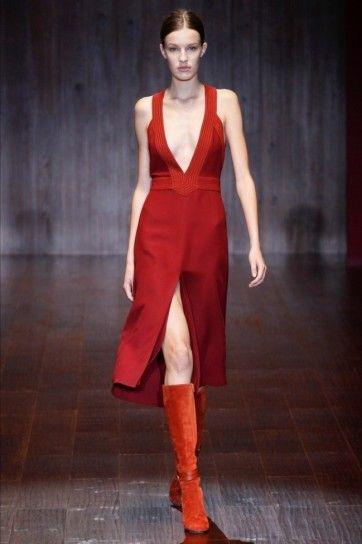 Vestito rosso gucci