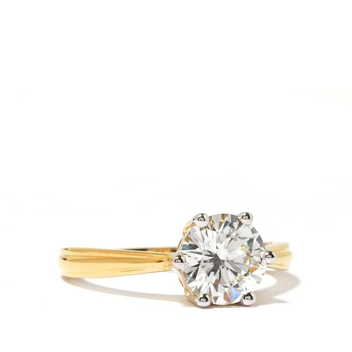 1.55ct Certified Diamond 18K Gold Lorique Ring