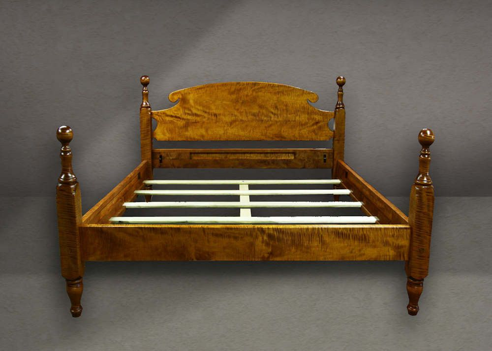 Tiger Maple Cannonball Bed King Handmade To Order Beds