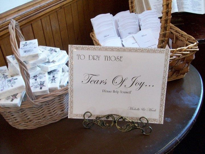Programs Kleenex Tissues For A Wedding Ceremony