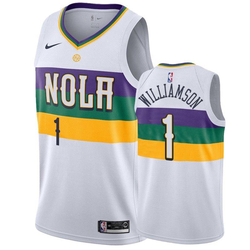Men's New Orleans Pelicans Zion Williamson Swingman Jersey