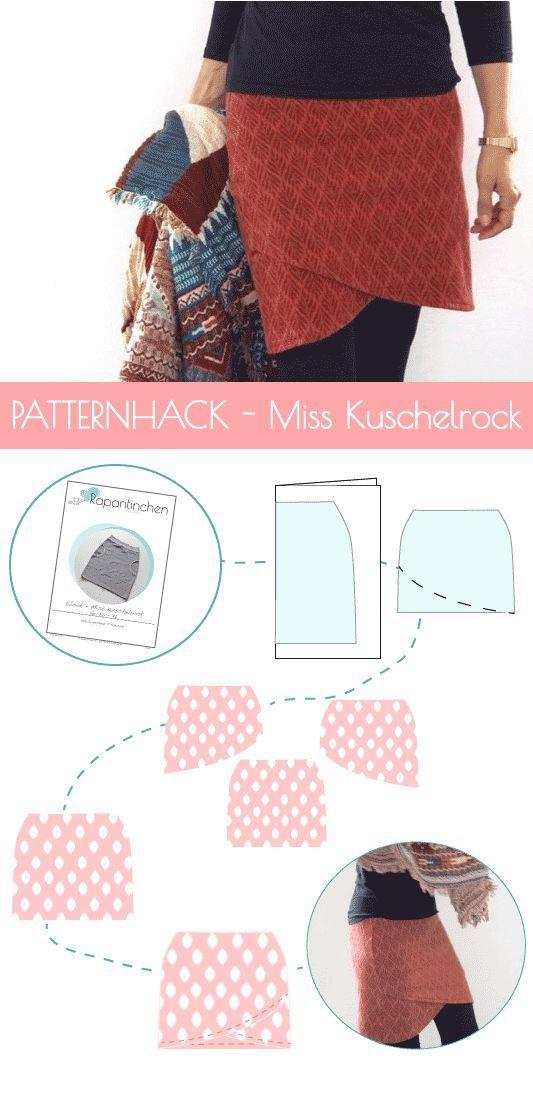 {cousu} – Jupe doudou Patternhack avec instructions de couture   – Schnittmuster